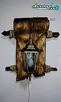 """Настенный декоративный светильник из дерева """"Древний Рим"""" (под бронзу)"""