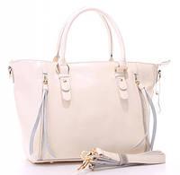 Женская кожаная сумка 1016 BEIGE. Женские сумки из натуральной кожи купить дешево в Одессе