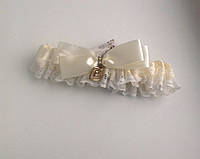 Подвязка невесты Ваниль атлас