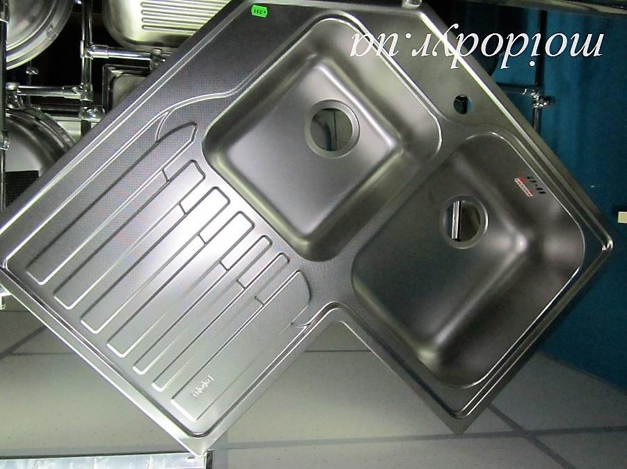 Мойка Franke (Dominox) STL 621-E кухонная угловая из нержавеющей стали декор