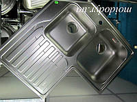 Мойка Franke (Dominox) STL 621-E кухонная угловая из нержавеющей стали декор, фото 1