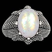 Лунный камень, серебро 925, кольцо, 618КЦЛ