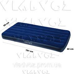 Надувной матрас одноместный Intex 68757 99х191х22см