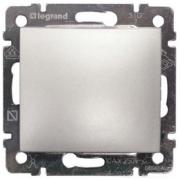Перемикач на два напрямки 1-клавішний вимикач прохідний), алюміній, Legrand Valena Легранд Валена