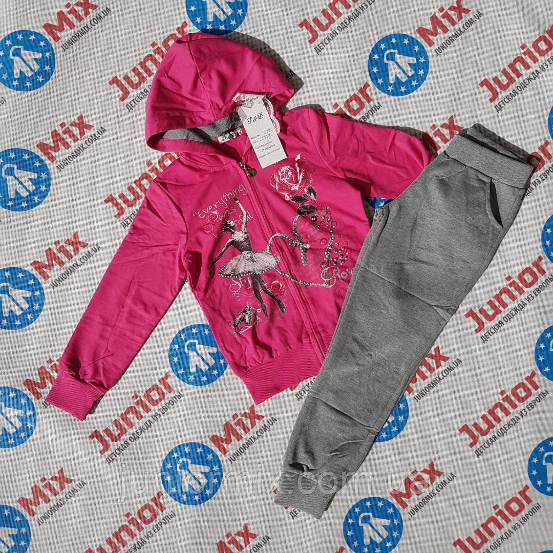 Детский спортивный трикотажный костюм на девочку  F&D