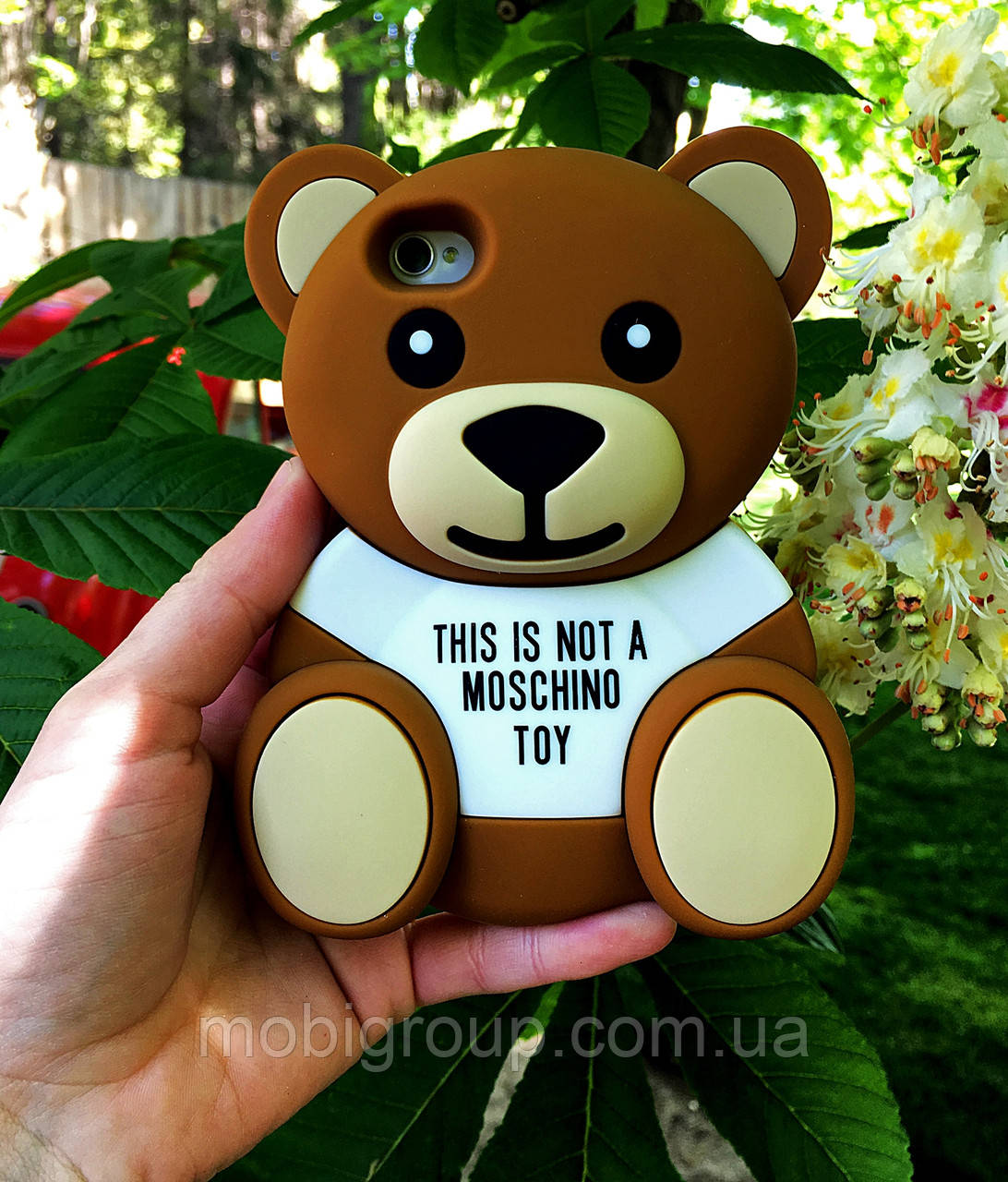 Чехол накладка медведь MOSCHINO для iPhone 4S/4
