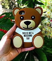 Чехол накладка медведь MOSCHINO для iPhone 4S/4, фото 1