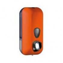 714AR  Дозатор жидкого мыла пластик оранжевый 550мл