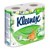 Kleenex Туалетная бумага белая 3х слойная (4 рул)