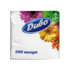 Диво Салфетки белые ,33*33,100 шт