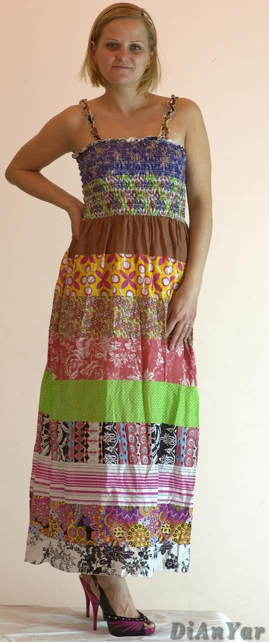 Сарафан-юбка коттоновый длинный CHURROS