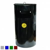 Урна-пепельница, навесная, оцинкованная, окрашенная с ведром 22 л (Монте-карло)