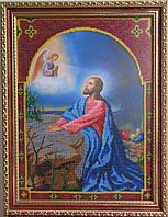 """Икона вышитая бисером """"Иисус на Оливковой горе"""""""