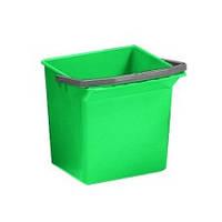 Ведро пластиковое зеленое 6л