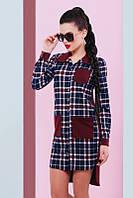 Стильная женская рубашка в клетку Barbara Fashion UP 42-48 размеры