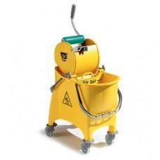 66450 Ведро WITTY с отжимом DRY желтого  цвета 30 л.