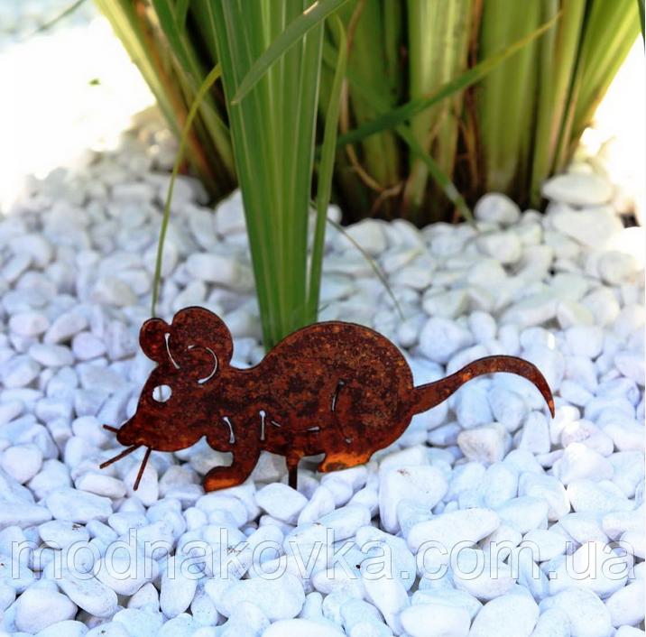 Декор для сада Мышка серая