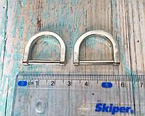 Полукольцо соединительное серебро 20 мм