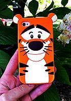 Силиконовый чехол Тигр iPhone 4S/4, Тигруля