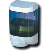 615  Дозатор жидкого мыла пластик прозрачный/белый