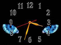 Настенные часы картина Кошка, Глаза, кварцевые (30х40 см), часы для дома, часы картина