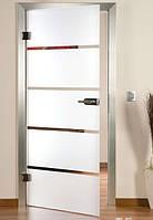 Двері міжкімнатні зі скла з матовим малюнком