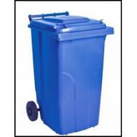 Контейнер для мусора уличный на колесах с крышкой, 240 л.
