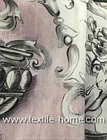 Натуральная ткань компаньон для штор с рисунком