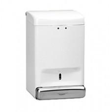 DJ0030 Дозатор жидкого мыла метал  белый 1,1л
