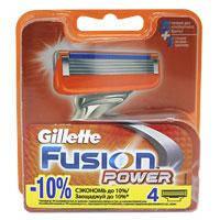 Gillette Картриджи Fusion Power 4шт