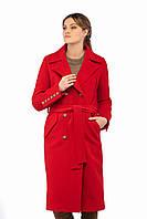 Женское пальто ПВ-18 Красный, фото 1