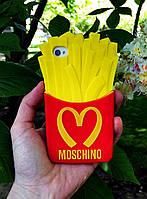 Силиконовый чехол Картошка Фри iPhone 4S/4, Moschino