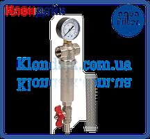 Самопромывной фильтр латунь 1/2 для горячей и холодной воды (100 микрон) Aquafilter
