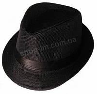 """Шляпа детская """"Пижон"""" Гавайская (черная с атласной полосой)"""