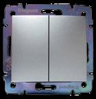 Перемикач на два напрямки 2-клавішний вимикач прохідний), алюміній, Legrand Valena Легранд Валена