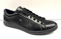 Мужские туфли Lacoste в натуральной матовой и глянцевой коже 2017 La0008
