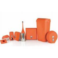 654AR Щетка для унитаза напольная оранжевая