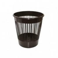 122052/2 Корзина офисная пластмассовая темно-коричневая  12л сетка