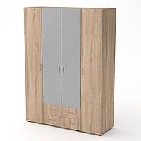 Шкаф-7 дуб сонома Компанит (160х54х218 см)