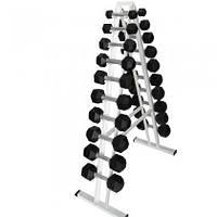 Гантельный ряд Newt Profi от 1 кг до 10 кг (NE-PS-111-011) со стойкой