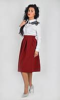 Изящная  юбка-миди в расцветках для девушек 212-1