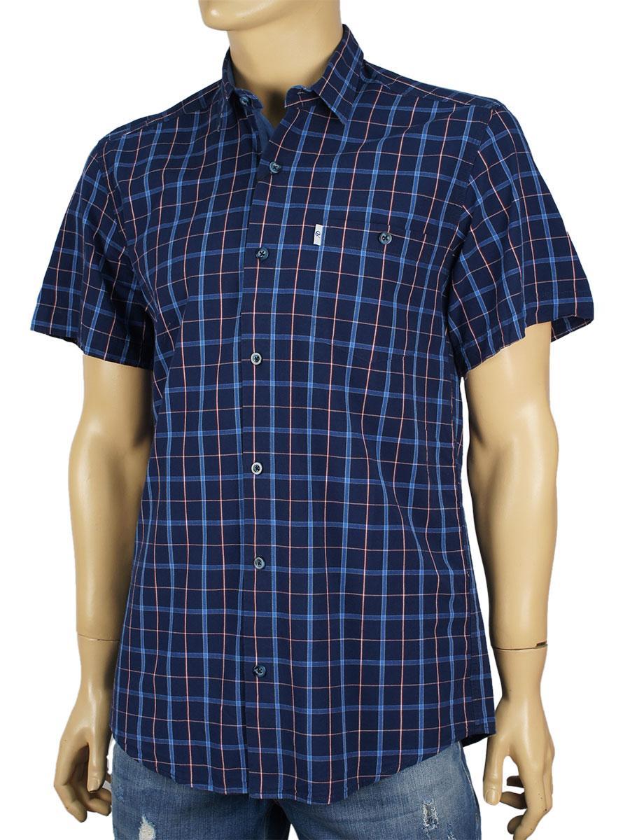 Рубашка мужская Negredо в клетку разных цветов размер М