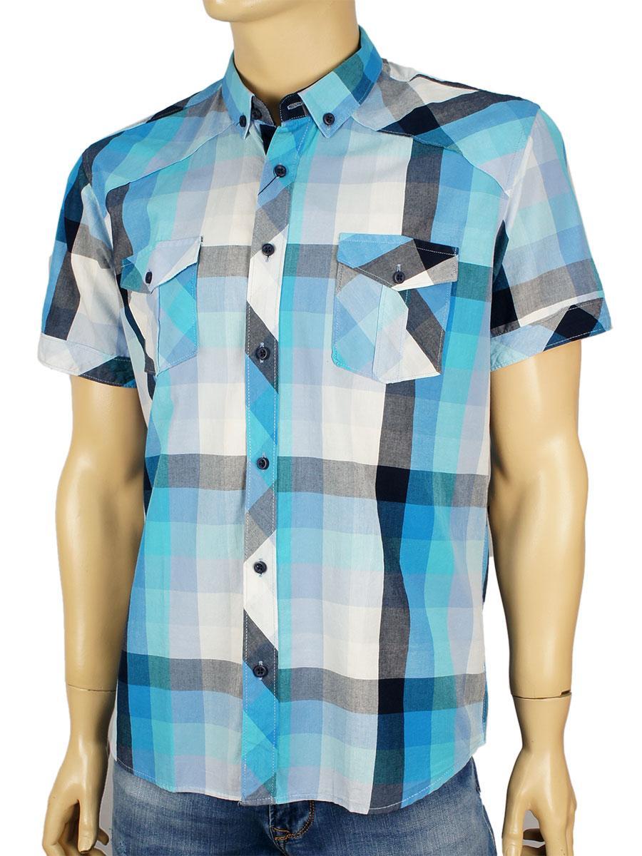 Мужская хлопковая рубашка Negredo 0295 в крупную клетку