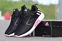 Женские кроссовки Adidas Climacool Вьетнам размеры 36-41 черные с розовым