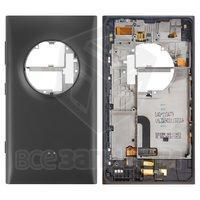 Задняя панель корпуса для мобильного телефона Nokia 1020 Lumia, черная