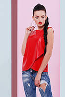 Красная женская блуза Geneva Fashion UP 42-48 размеры