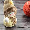 "Шоколадная фигура ""Снеговик"" элитный шоколад.Размер135х70х55,вес 170гр 16/5"
