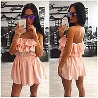 Женское летнее платье с открытой спиной