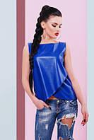 Синяя женская блуза Geneva Fashion UP 42-48 размеры