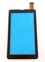 Оригинальный тачскрин / сенсор (сенсорное стекло) для Globex GU7015C (черный цвет, тип 2, самоклейка)